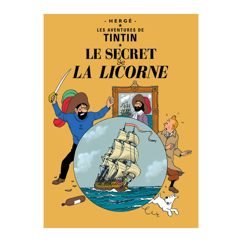 le secret de la licorne poster the tintin shop uk. Black Bedroom Furniture Sets. Home Design Ideas
