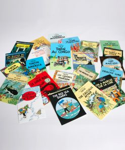 Tintin Moon adventure 16 postcards booklet