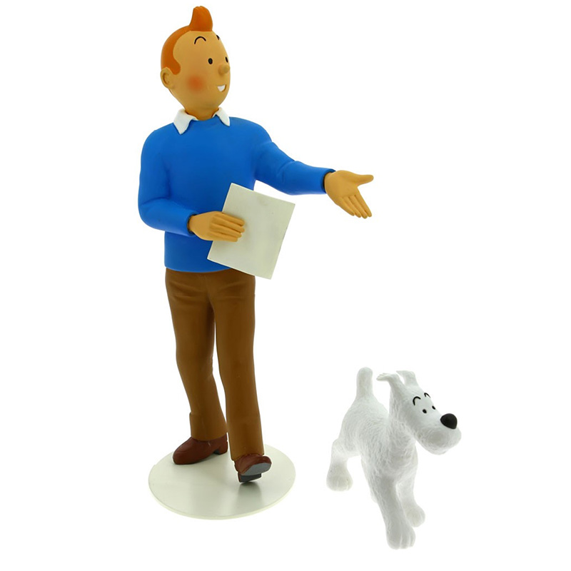Resin Statue Of Tintin And Snowy