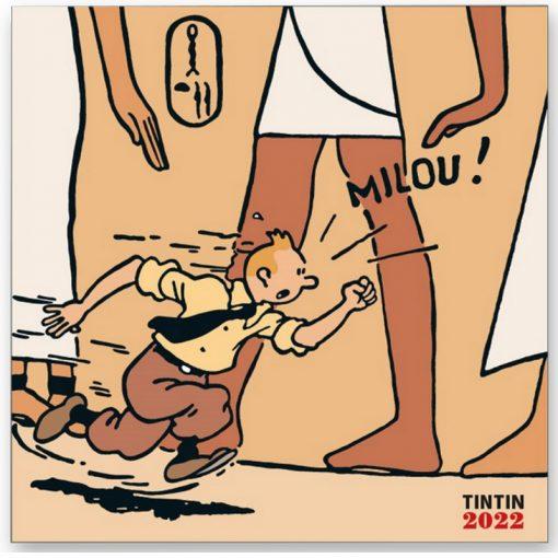 Hergé-Calendrier-Tintin-noir-et-blanc-en-couleurs-Papeterie-civile-Calendrier-2022-Amazonie-BD