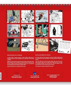 Hergé-c-Calendrier-Tintin-noir-et-blanc-en-couleurs-Papeterie-civile-Calendrier-2022-Amazonie-BD